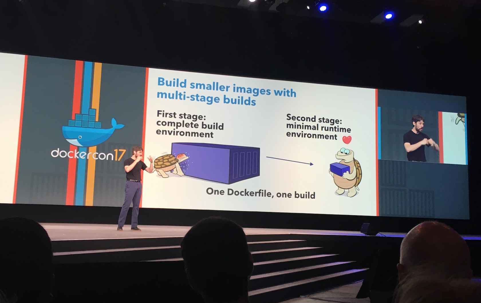 announcement at DockerCon about multi-stage builds