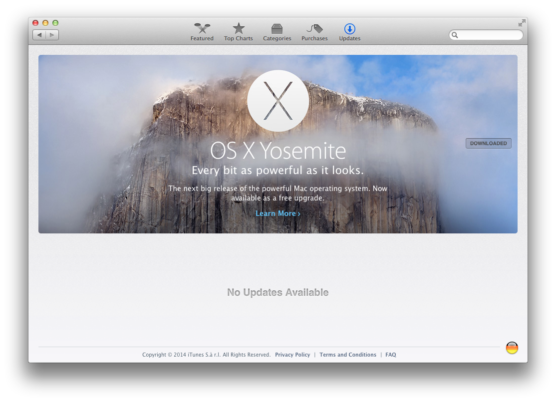 yosemite downloaded