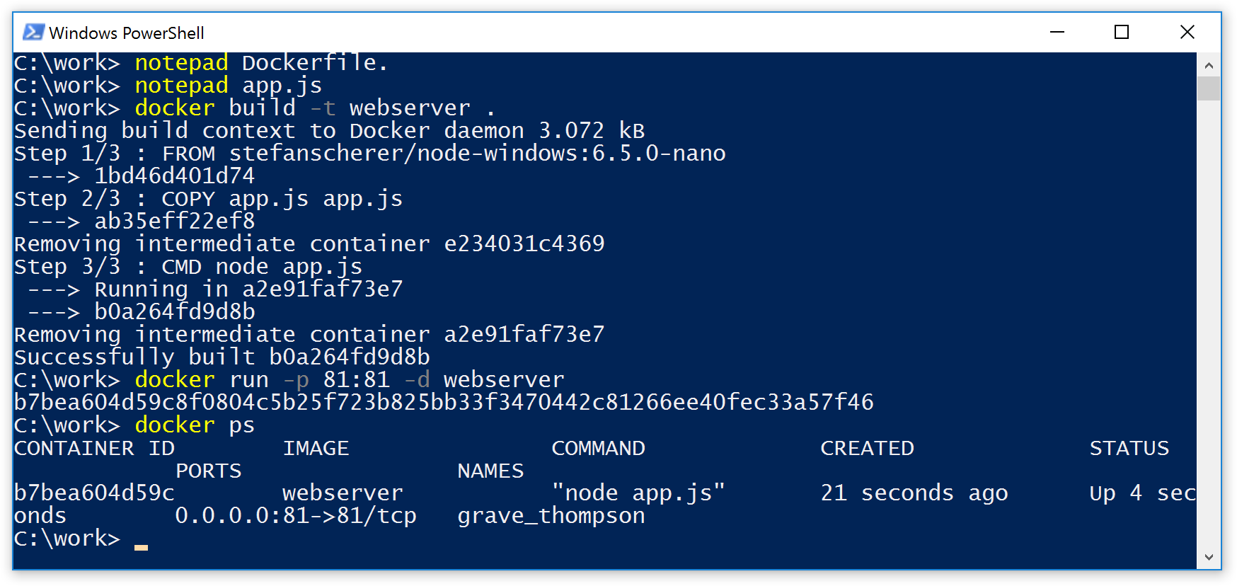 Run Linux and Windows Containers on Windows 10