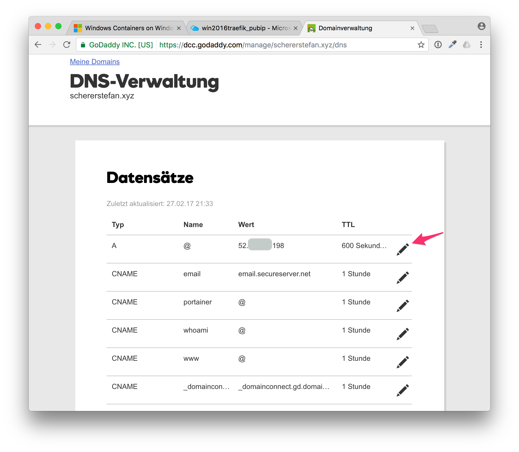 Update DNS records