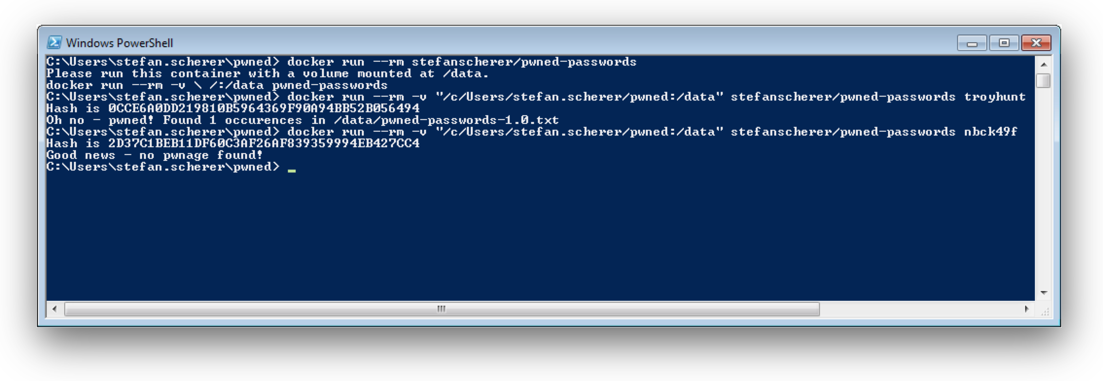 Windows 7 with pwned-passwords image