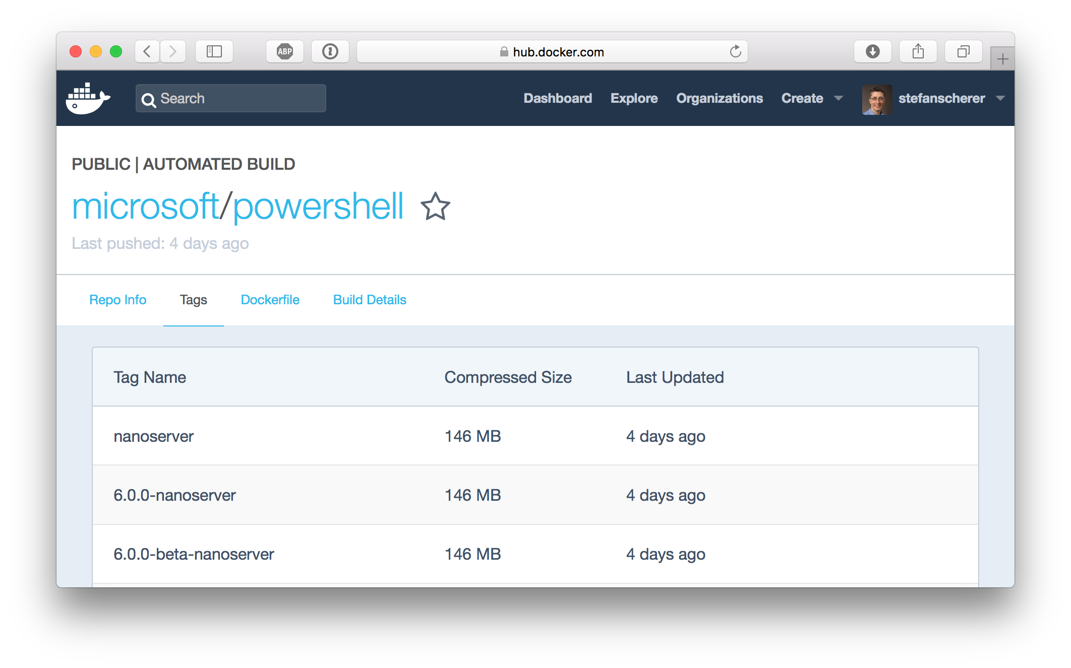 docker-hub-powershell