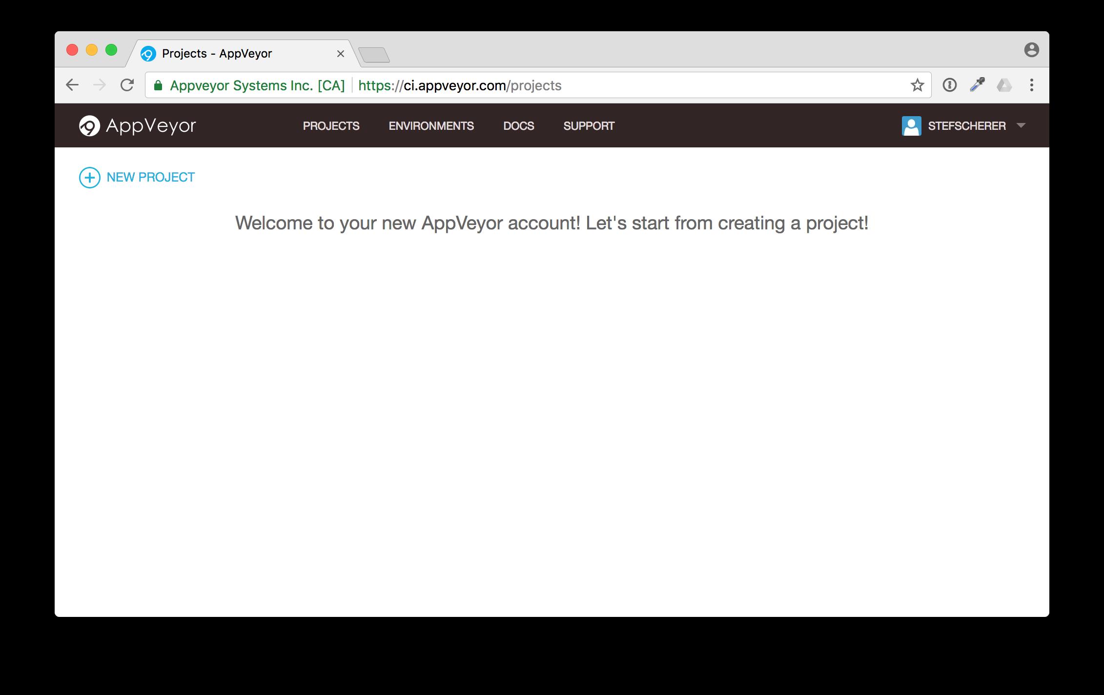 appveyor-lets-start