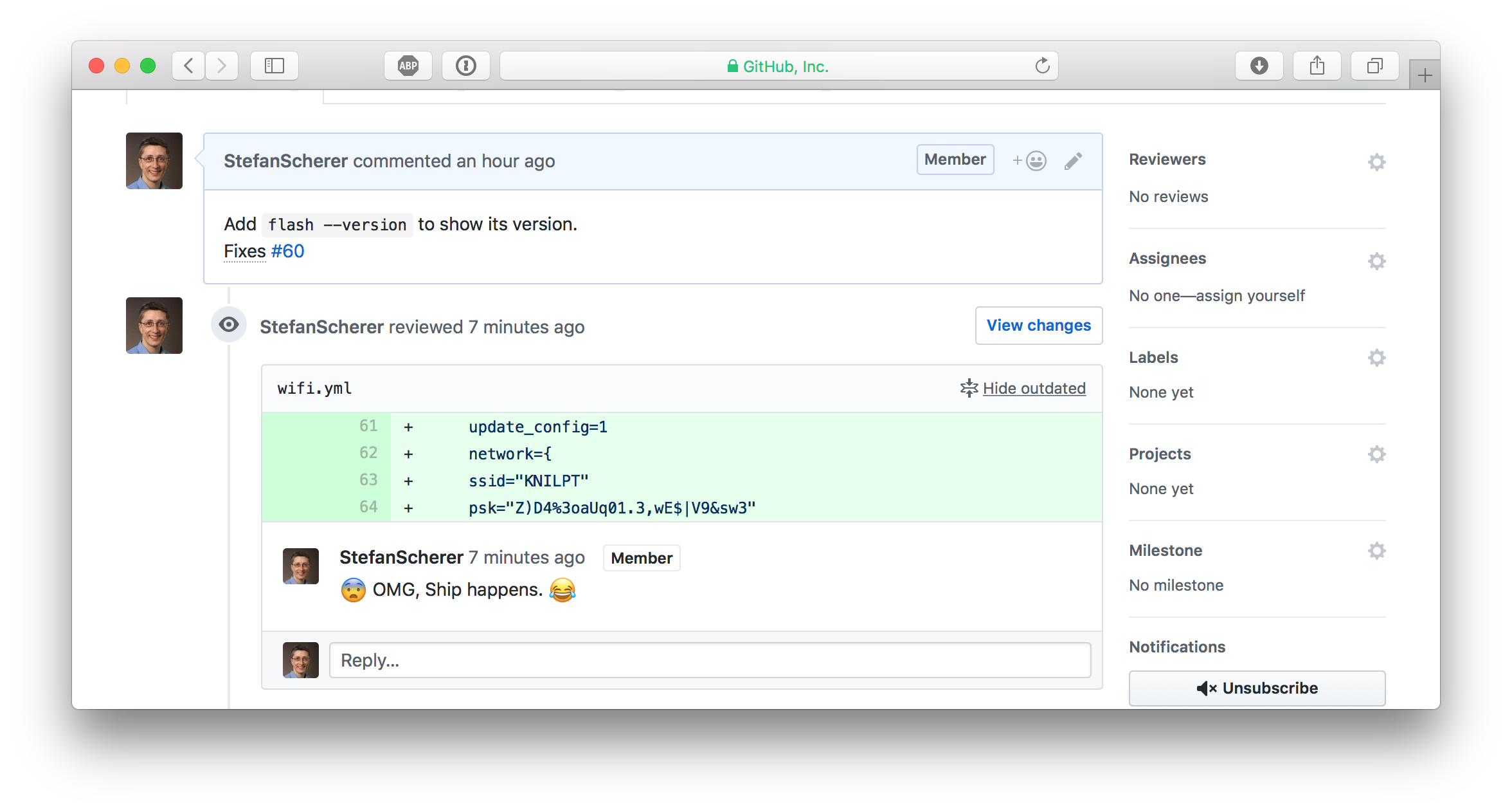 GitHub show outdated comments still visible
