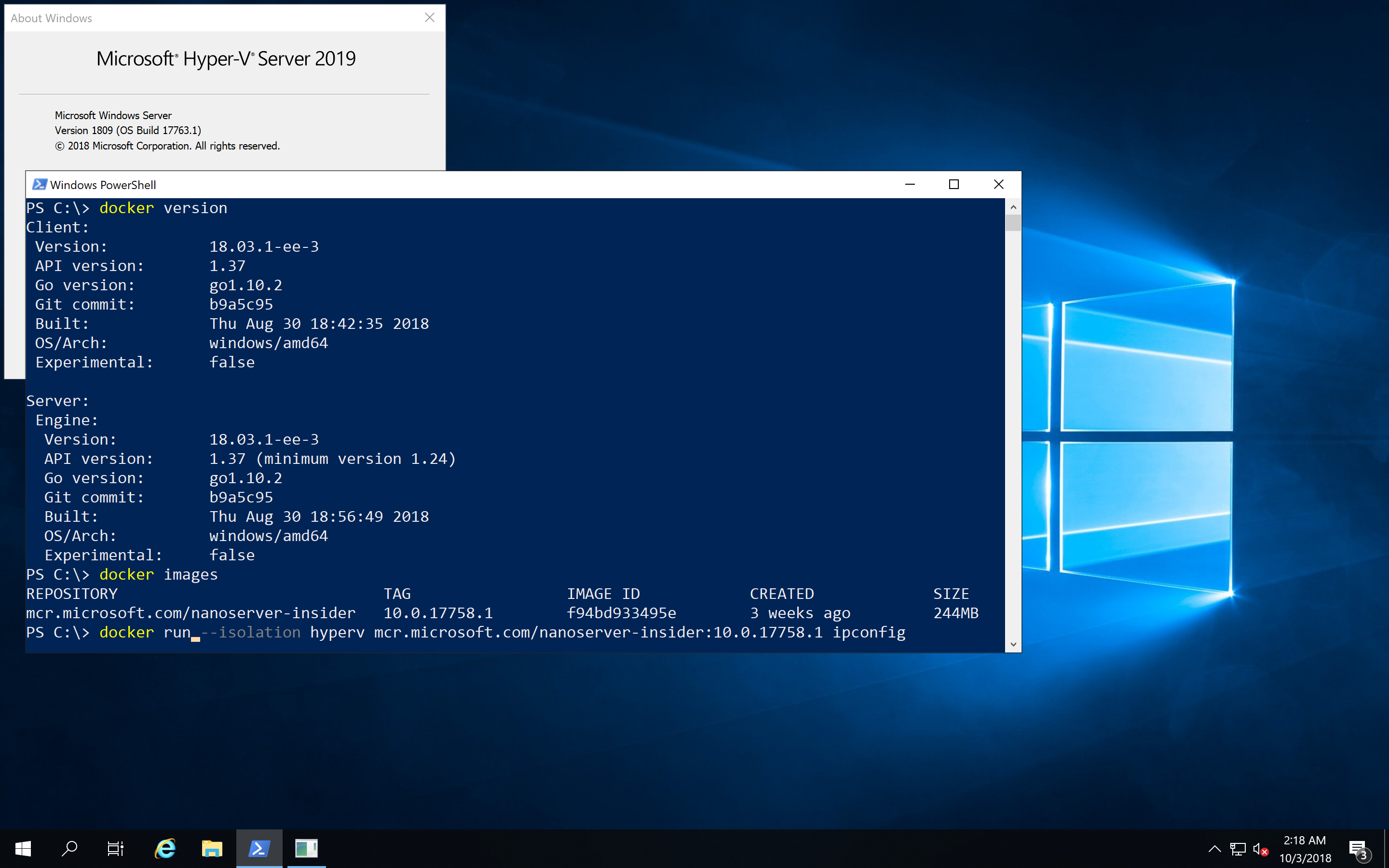 What's new for Docker on Windows Server 2019?