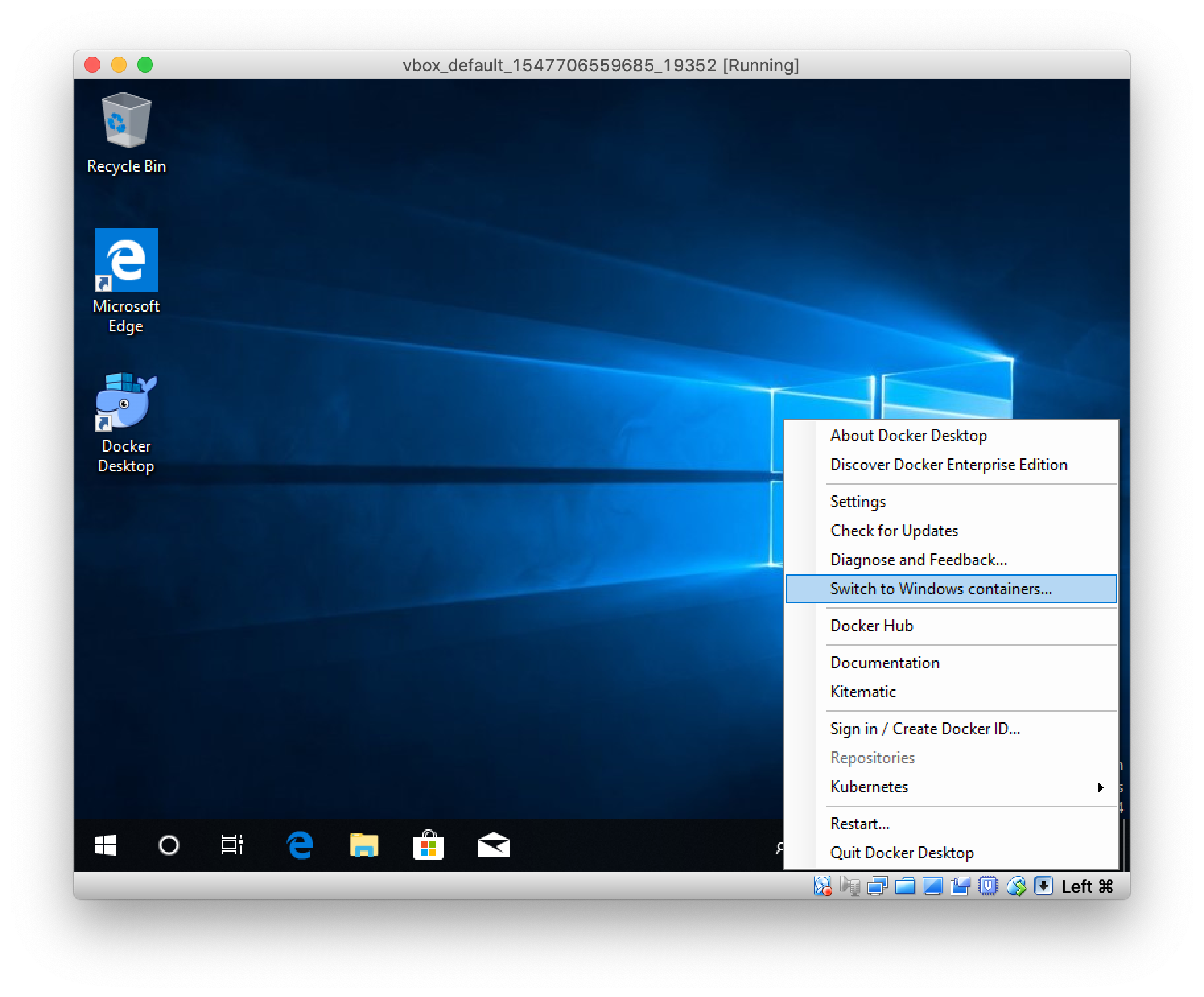 How to run lightweight Windows Containers on Windows 10